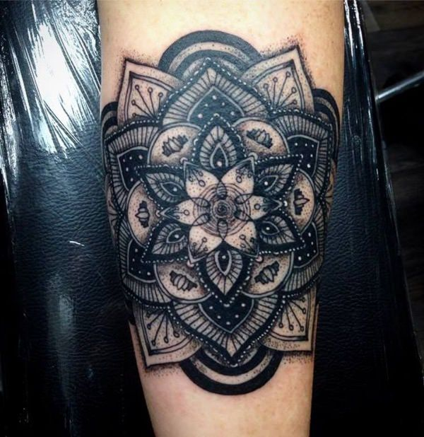 Getting This Design As A Tattoo Will Be Great Idea Especially For People Who Love Ancient Art Mandala Tattoos
