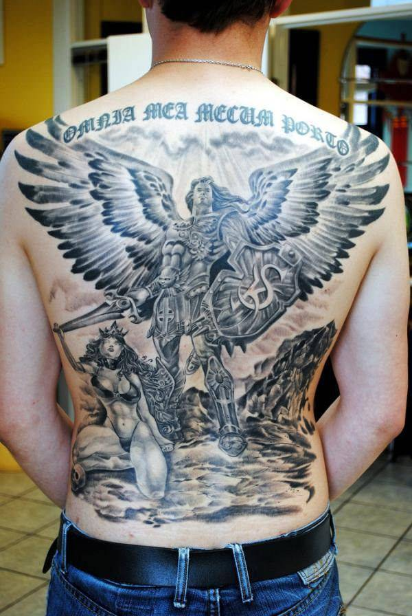 d5272907435bc These creatures are naturally assigned as angels but they gave in to  temptations. Most Fallen Angel Tattoos are designed with the angel on  bended knees, ...