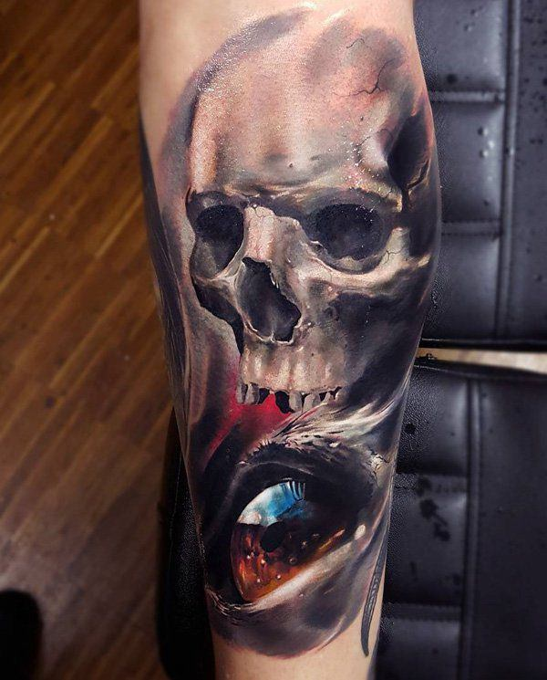 1ad155e686c77 125 Kick-Ass Skull Tattoos For Men & Women - Wild Tattoo Art