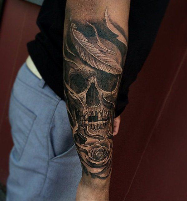 Tattoo For Men: 125 Kick-Ass Skull Tattoos For Men & Women