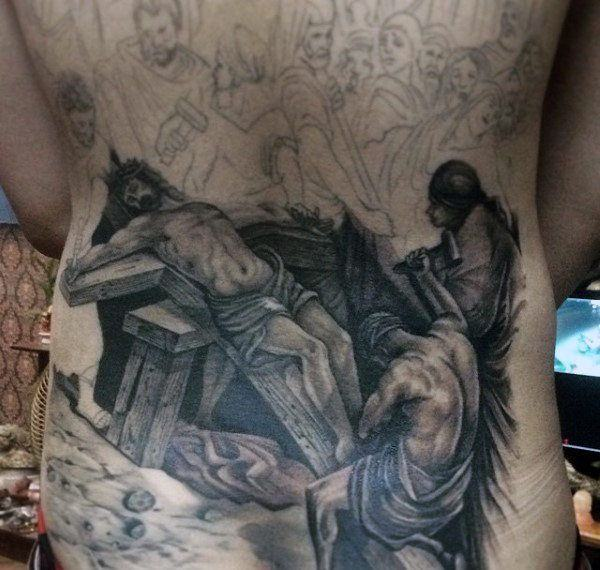 125 top christian tattoos of 2017 wild tattoo art for Back mural tattoo designs