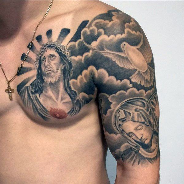 4a67a19685f95 Whether a face or a figure of Jesus is used, the impact of holiness is  evident. The realistic drawing approach is conventional, although some  artists have ...