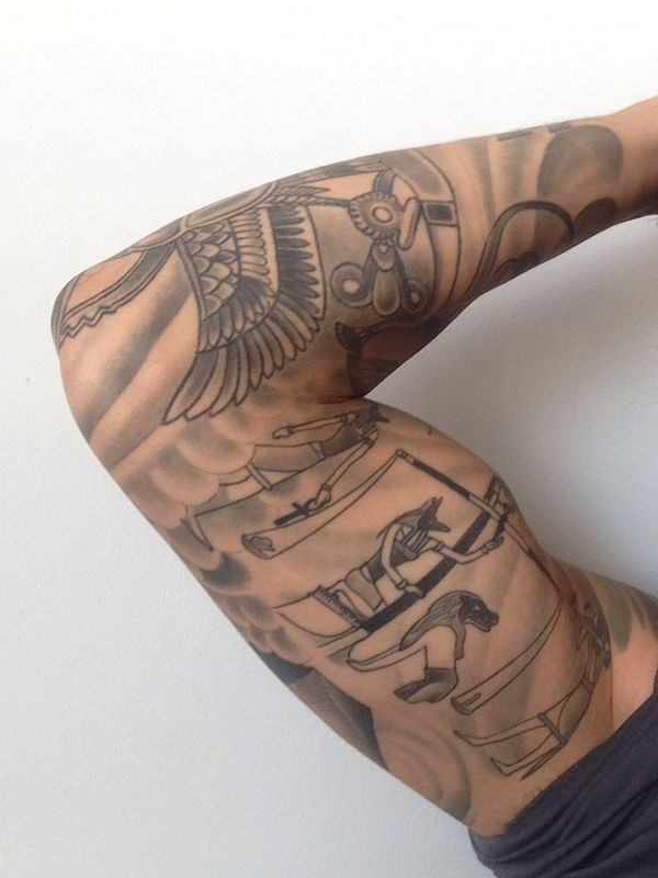 2a2ce41f7bd9f 250 Egyptian Tattoos of 2019 (with Meanings) - Wild Tattoo Art