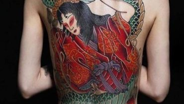 Japanese Tattoo On Back