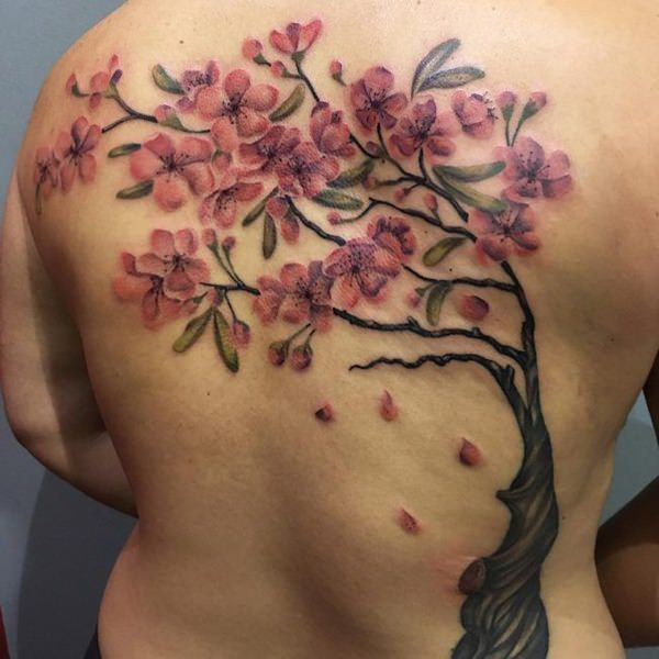 495149d19 125 Best Cherry Blossom Tattoos of 2019 - Wild Tattoo Art