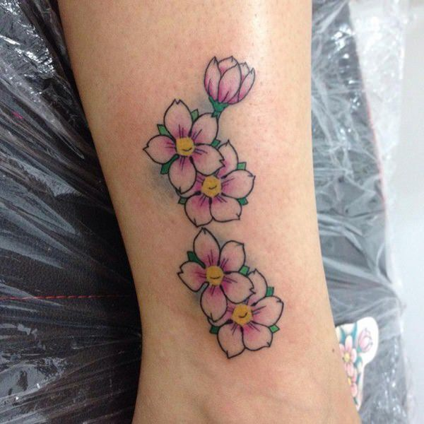 125 best cherry blossom tattoos of 2019 wild tattoo art. Black Bedroom Furniture Sets. Home Design Ideas