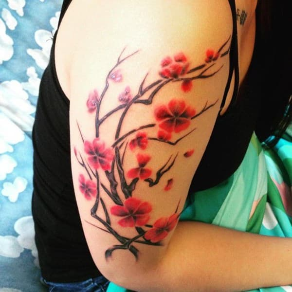 Tattoo Designs Japanese Names: 125 Best Cherry Blossom Tattoos Of 2019