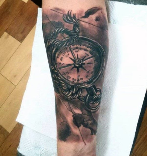 0149821f0 This is the Rose Compass or Compass Rose to others, simply because it looks  like the petals of a rose when viewed from a distance. compass tattoos