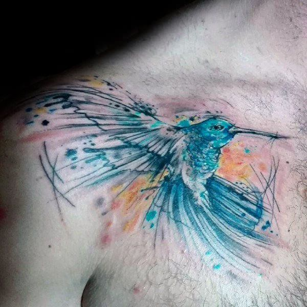 e66f52e6f Other design elements like plants, flowers, clouds, butterflies,  dragonflies and others help build drama and charm to the tattoo. hummingbird -tattoos