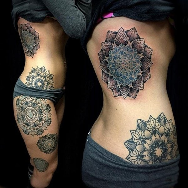 125 mandala tattoo designs with meanings wild tattoo art. Black Bedroom Furniture Sets. Home Design Ideas