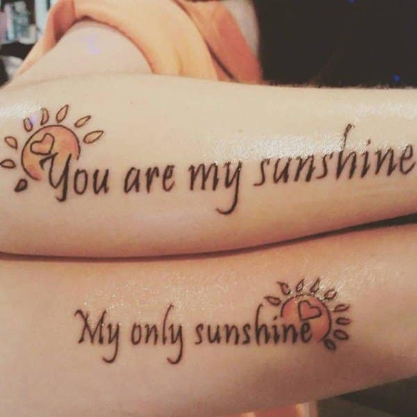 Mother Son Tattoos Designs Ideas And Meaning: 125 Popular Mother Daughter Tattoo Design Ideas