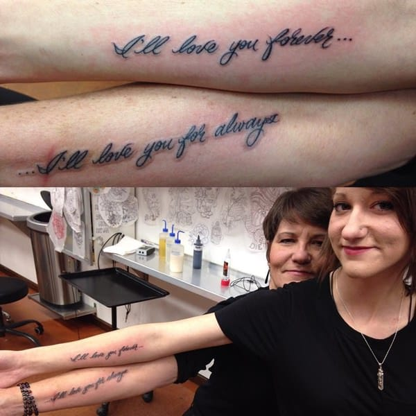 b0df30fc603da Infinity Love Tattoo. A mother's love to her daughter is always  unfathomable.