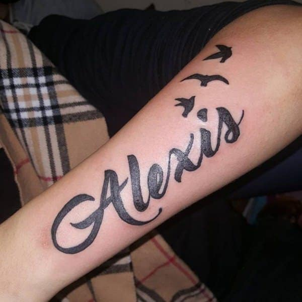 99 Popular Collection Of Name Tattoos Wild Tattoo Art