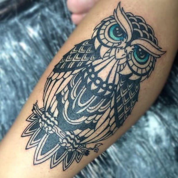 Simple Minimalist Owl Tattoo: 101 Highly Recommended Owl Tattoos In The US