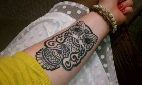 Mehndi Nape Tattoo : Highly recommended owl tattoos in the us wild tattoo art
