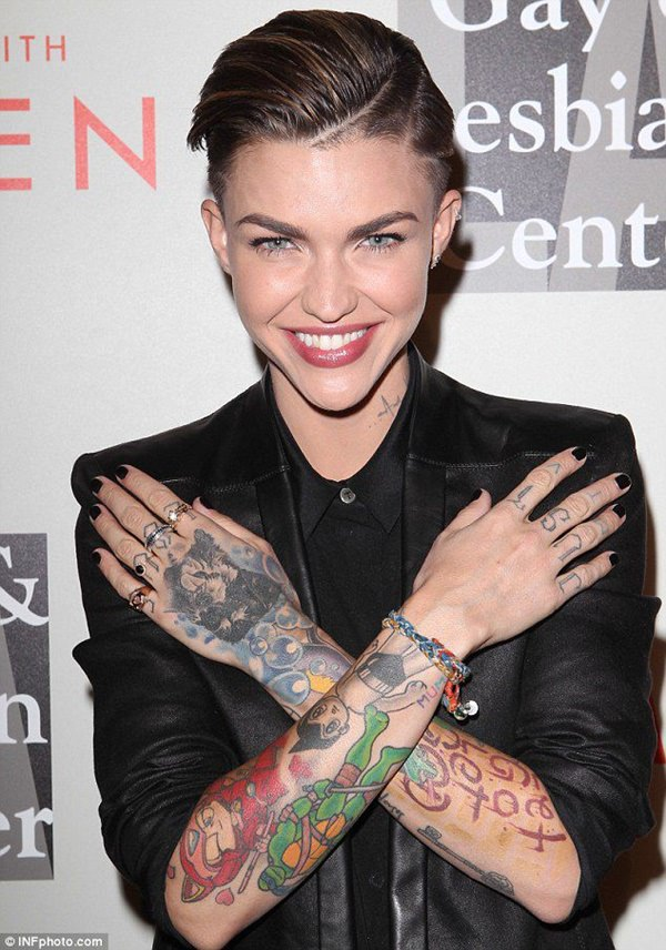1b7a5ce19 True enough, her tattoos are too wonderful, which made them shine to the  rest of the world. ruby-rose-tattoos