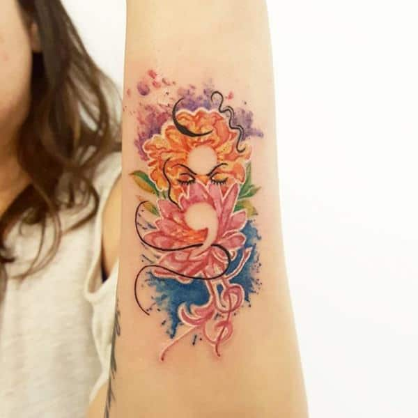 150 Cute Semicolon Tattoo Designs 2019 Wild Tattoo Art