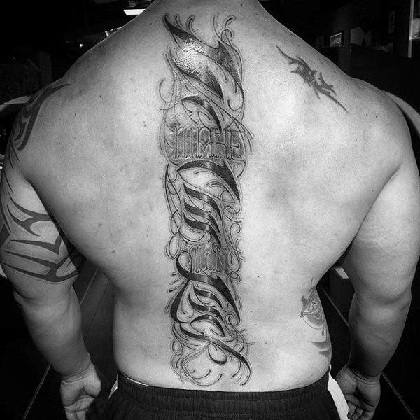 125 Brilliant Spine Tattoo Ideas To Die For Wild Tattoo Art
