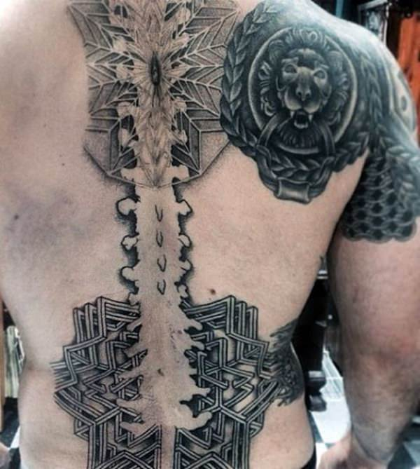Spine Tattoo Images Designs: 125 Wonderfully Crafted Spine Tattoos