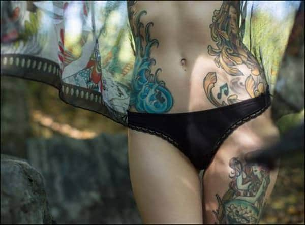 Sexy stomach tattoos for women