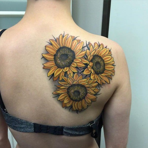Ideal Placement Of A Sunflower Tattoo