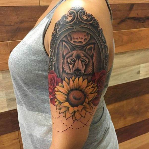 8cbad8f00 125 Top Rated Sunflower Tattoos - Wild Tattoo Art