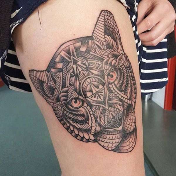 Tattoo For Womens: 195 Top Rated Thigh Tattoos For Female