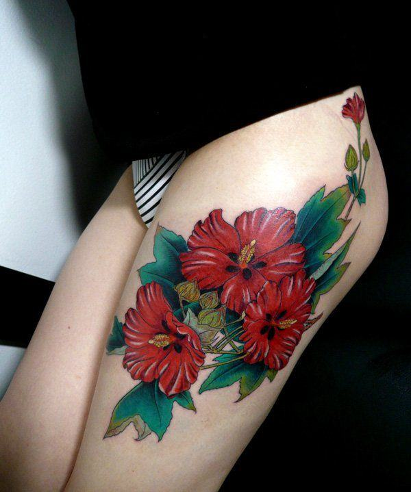 195 Top Rated Thigh Tattoos For Female , Wild Tattoo Art