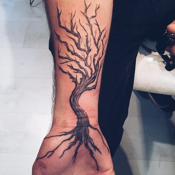 125 tree tattoos on back wrist with meanings wild tattoo art. Black Bedroom Furniture Sets. Home Design Ideas