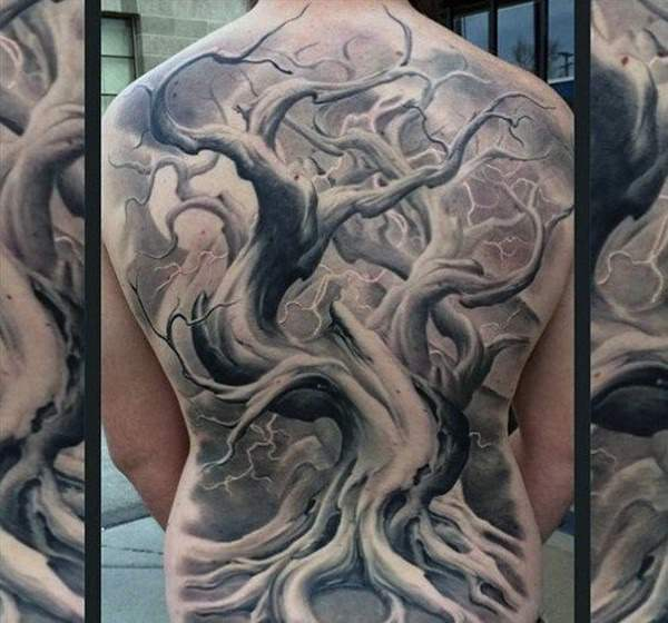Realism Dead Tree Tattoo Designs