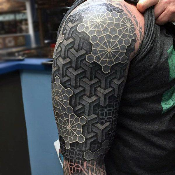 Blacked Out Tattoos: 150 Best White Ink Tattoos In The USA This Year