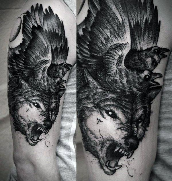 83a85906a For instance, a wolf tattoo holds so much meaning than just simply being an  animal tattoo. It represents the traits of the person wearing the tattoo.