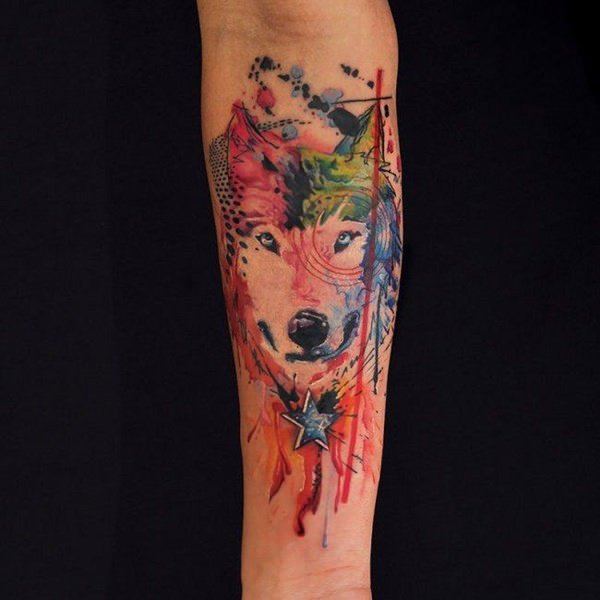 2bfe3afe4eb91 125 Coolest Wolf Tattoo Designs - Wild Tattoo Art