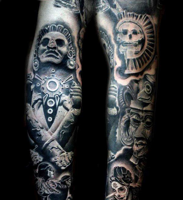 Aztec Tattoos Designs Ideas And Meaning: 125 Best Aztec Tattoo Designs For Men