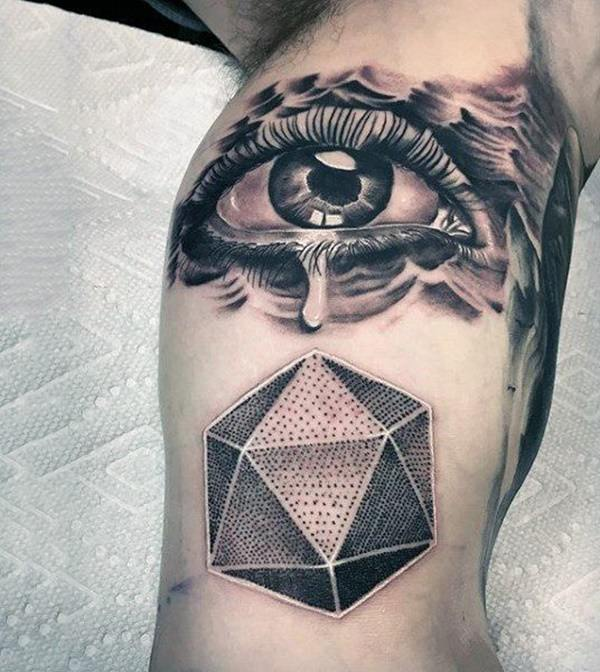 9fb7eca72 This eye tattoo is an ideal design for practitioners of these disciplines  or if you are looking for a symbol that can help you summon energies for  inner ...
