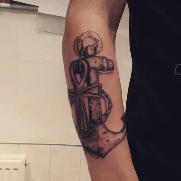 4f55d7b2be743 125 Best Anchor Tattoos of 2019 (with Meanings) - Wild Tattoo Art