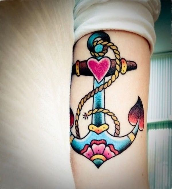 70204914c42e1 125 Best Anchor Tattoos of 2019 (with Meanings) - Wild Tattoo Art