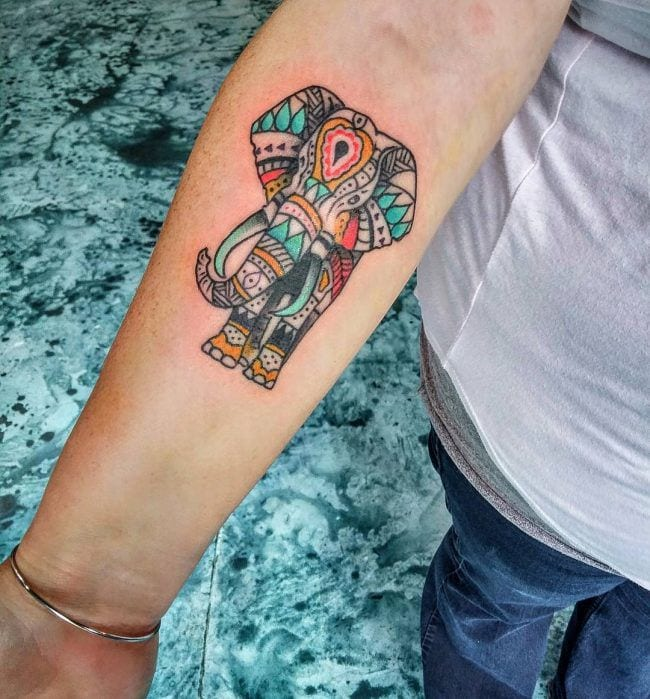 Good Luck Elephant Tattoo: 155+ Elephant Tattoos: Design Ideas With Meaning