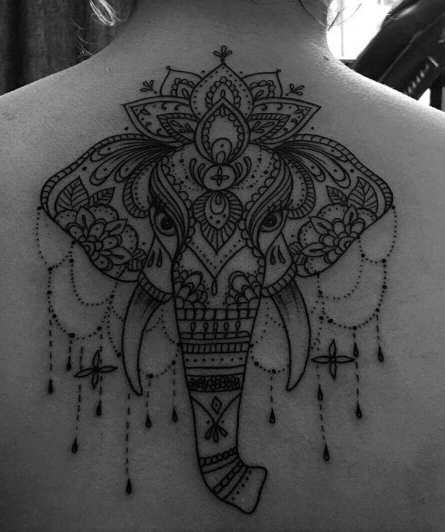 155 elephant tattoos design ideas with meaning wild. Black Bedroom Furniture Sets. Home Design Ideas