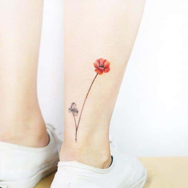 Tattoo For Womens Ankle: 155 Trendy Ankle Tattoos For Women
