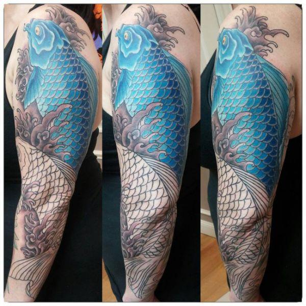 125 Koi Fish Tattoos with Meaning, Ranked by Popularity 52