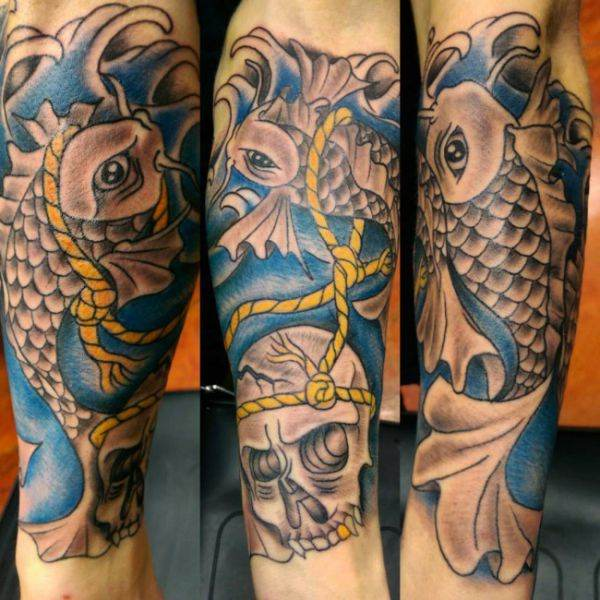 125 koi fish tattoos with meaning ranked by popularity wild koi fish and lotus flowers mightylinksfo Choice Image