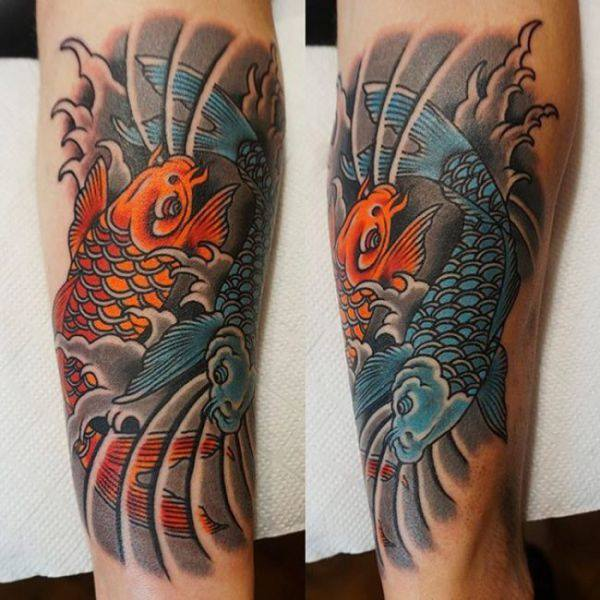 125 Koi Fish Tattoos with Meaning, Ranked by Popularity 43