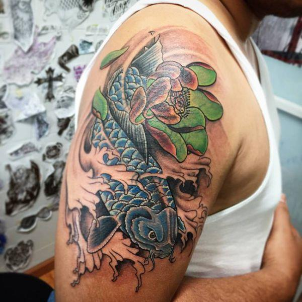 125 Koi Fish Tattoos with Meaning, Ranked by Popularity 33