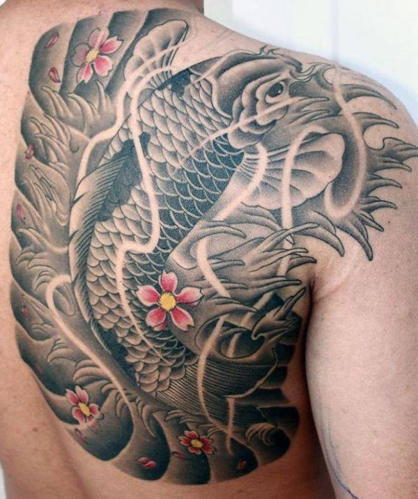 125 koi fish tattoos with meaning ranked by popularity for Koi pond tattoo