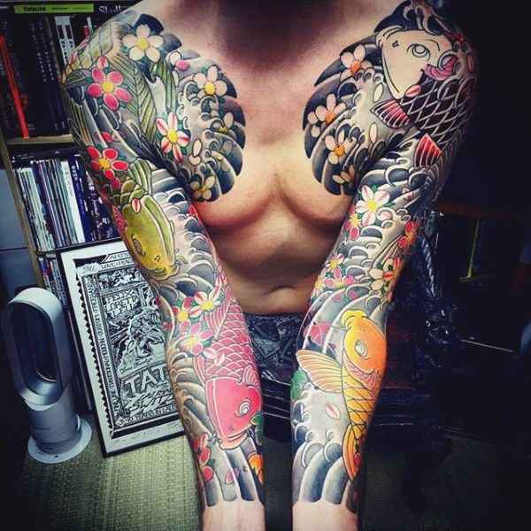 125 Koi Fish Tattoos with Meaning, Ranked by Popularity 41