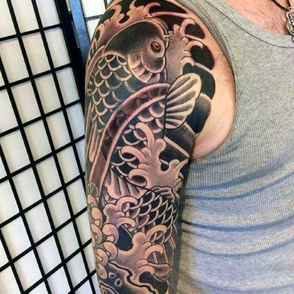 125 Koi Fish Tattoos with Meaning, Ranked by Popularity 78