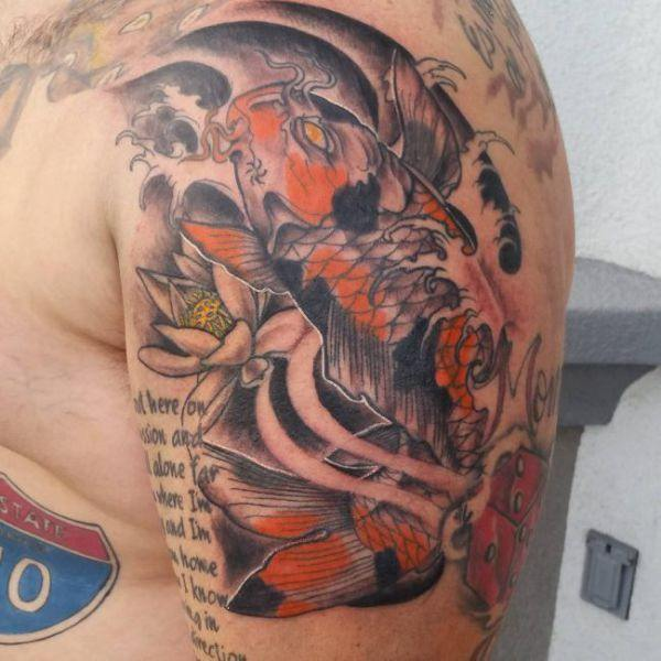 125 Koi Fish Tattoos with Meaning, Ranked by Popularity 7
