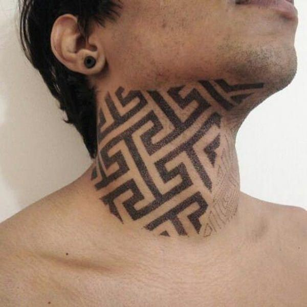 759cce74fc13b These kinds of tattoos are mostly done at the back of the neck, instead of  the front size – Mostly because the skin over there is thicker, so it holds  the ...
