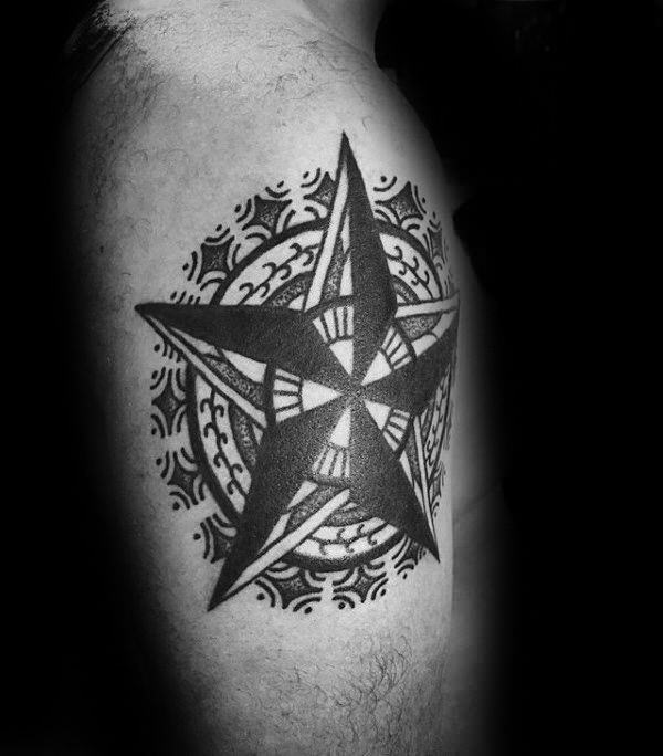 155 Cool Star Tattoos for Men & Women 97